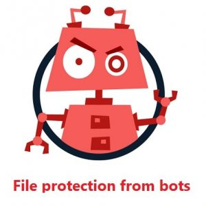 File protection from bots